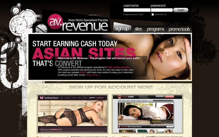 AV Revenue - all Porn Affiliate Network