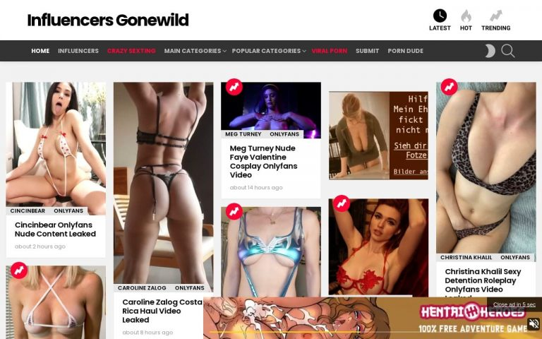 Influencers Gonewild - all Free Onlyfans Leak Sites
