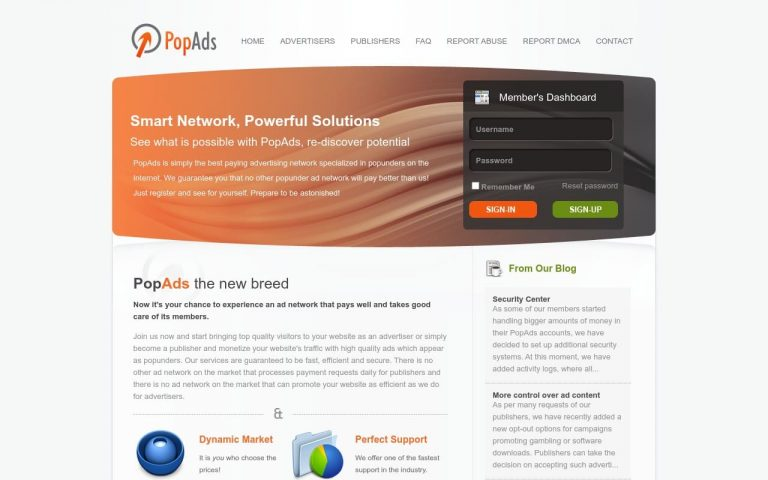 Popads - all Adult AD Networks